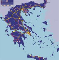 Görögország autó térkép